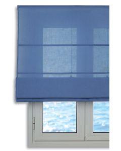 City - Tenda Pieghevole con asticelle, Colore: Azzurro 90/175 cm Blu