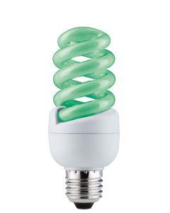 Energy-saving lamp, spiral 15 W E27, green [Classe di efficienza energetica A]