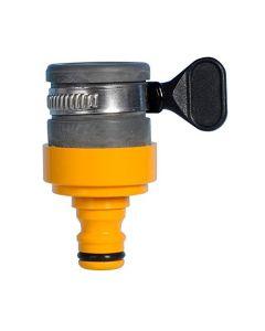 Hozelock Connettore per rubinetto rotondo, di 18 mm massimo di diametro, per rubinetti rotondi e ovali