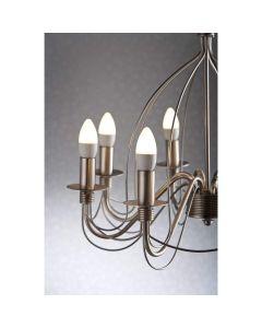 LED Premium candle 5 Watt E14 warmwhite dimmable