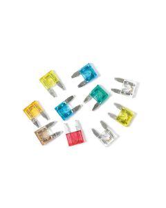 Lampa 70196 Minifusibili Lamellari con LED Amperaggio Assortito, 10 Pezzi