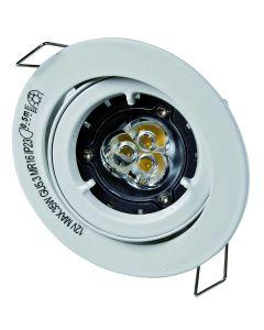 Light Topps 563100027 Faretto GU10 orientabile 5 W metallo bianco [Classe di efficienza energetica A+]