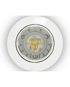 Light Topps - Set 3 Faretti da incasso LED GU10, 104 LM, BIANCO