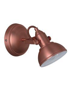 Living Lighting R80151029 Retro, 40 W, senza lampadine , diametro 13 cm ,Rame [Classe di efficienza energetica A]