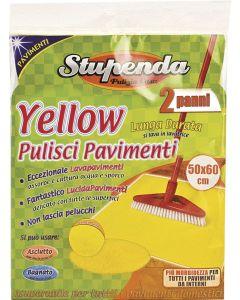 PANNO PAVIMENTO SET 2 PZ. CM.50X60 YELLOW