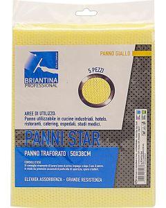 Panni traforati professionali Star colore giallo 50x38 cm 5 pezzi