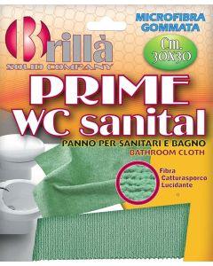 Panno Prime WC Sanital in microfibra gommata per sanitari e bagno 30x30 cm
