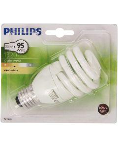 Philips Lighting Tornado Lampadina a Risparmio Energetico a Spirale Attacco E27 20W Equivalente a 95W Bianco Caldo, 20 W [Classe di efficienza energetica A]