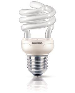 Philips T10Y12B1 Lampadina a risparmio energetico a spirale, 12W (Corrispondenti a 60W), E27, luce bianca calda [Classe di efficienza energetica A]
