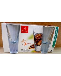 SET 3 PZ BICCHIERI CLUB BAR AFTER DINNERIN VETRO CLASSIC 13 cl BORMIOLI