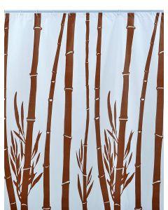 Shark 010/237091 Tenda Doccia, Vinile, 180 cm x Altezza 200 cm, Bianco/Marrone