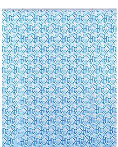Shark 010/247011 Tenda Doccia, Vinile, 180 cm x Altezza 200 cm, Azzurro/Blu/Bianco