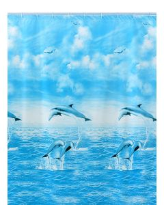 Shark 010/351191 Tenda Doccia, Vinile, 240 cm x Altezza 200 cm, Multicolore