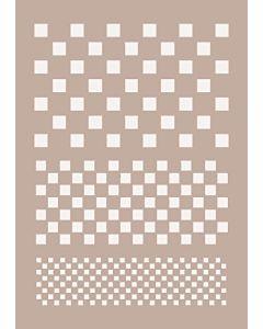 To-Do 67411 Stencil Testure Quadri, 21x29.7 cm, Trasparente, 0.1x0.1x0.1 cm