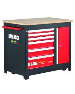 USAG 514 B6V U05140001 Banco da Lavoro Mobile BULL - 6 Cassetti (vuoto)