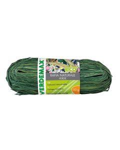 VERDEMAX 4513 Coil Rafia Naturale 50 g, Colore: Verde