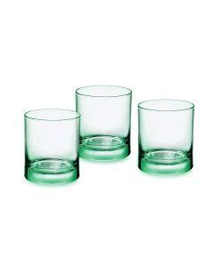Rocco Bormioli Iride Cestino 3 Bicchieri.Iride Acqua 25 Verde, Pezzi, 3 unit