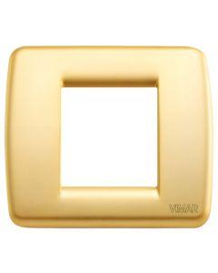 VIMAR - PLACCA IDEA RONDO' 1-2 MODULI METALLO ORO OPACO 17093.33