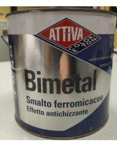 ATTIVA BIMETAL - SMALTO FERROMICACEO EFFETTO ANTICHIZZANTE 2,5 LT GRIGIO NATURALE 11