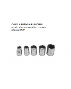 "ORECA-CHIAVE A BUSSOLA ESAGONALE ATTACCO 1/4"" mm 11 CROMO VANADIO"