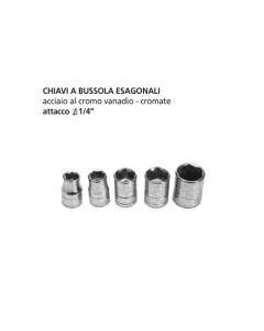 "ORECA-CHIAVE A BUSSOLA ESAGONALE ATTACCO 1/4"" mm 5 CROMO VANADIO"
