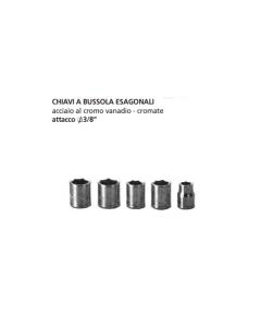 "ORECA-CHIAVE A BUSSOLA ESAGONALE ATTACCO 3/8"" mm 16 CROMO VANADIO"