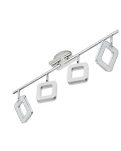 BRILONER - BARRA SNODATA 4 LED - 3,5W-330LM - METALLO ACRILICO/CROMO
