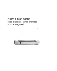 ORECA-CHIAVE A TUBO DOPPIA BOCCA ESAGONALE mm 10X11 CROMATA