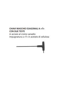 "ORECA CHIAVI MASCHIO ESAGONALI A ""T"" CON 2 TESTE mm 9"