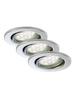 BRILONER - 3 FARETTI LED INCASSO ORIENTABILI - 3x3W-250LM - IP23