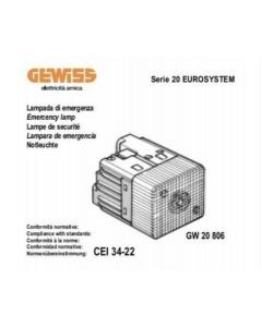 GEWISS - LAMPADA ANTI BLACK-OUT FISSA - 230V 50-60HZ