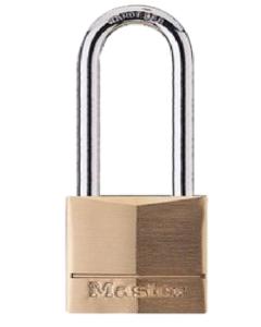MASTER LOCK - LUCCHETTO IN OTTONE MASSICCIO - ARCO ACCIAIO TEMPERATO - 40x51x6 MM