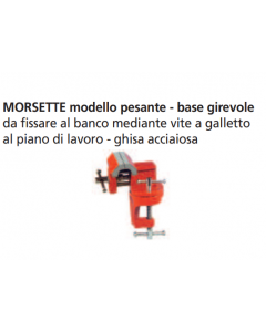 ORECA-MORSETTA DA BANCO BASE GIREVOLE IN GHISA MM. 60