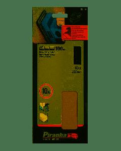 PIRANHA -BLACK&DECKER 10 FOGLI AL CORINDONE PER LEVIGATRICI 93X230 GR.100 X31065
