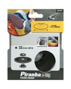 PIRANHA BLACK&DECKER PLATORELLO CON GHIERA PER ANGOLARI 115mm X32105