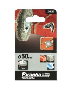 BLACK&DECKER PIRANHA-SPAZZOLA CIRCOLARE mm 50 IN ACCIAIO PER TRAPANI X36020