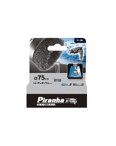 BLACK&DECKER PIRANHA-SPAZZOLA A TAZZA mm 75 IN ACCIAIO X36040
