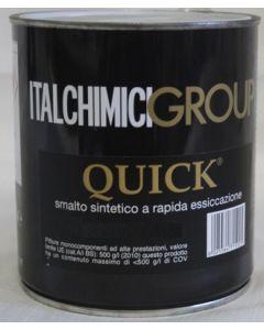 ITALCHIMICIGROUP-QUICK SMALTO SINTETICO A RAPIDA ESSICCAZIONE ML 750 RAL 9005 NERO OPACO