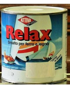 ATTIVA RELAX - SMALTO BRILLANTE PER FERRO E LEGNO 375 ML COLORE ROSSO SEGNALE
